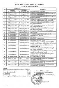 Info Haji Jadwal Rencana Keberangkatan Haji 2014 1435H