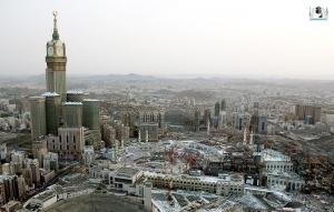 zamzam tower; menara jam mekah;