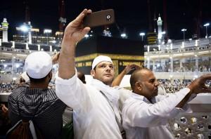 selfie saat umroh