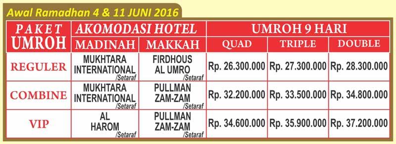 umroh awal ramadhan 2016