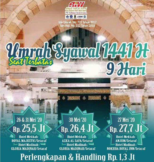 umroh syawal 1441 alhijaz